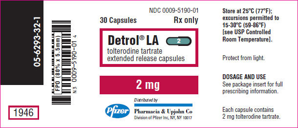 Detrol La (Tolterodine Tartrate) Capsule, Extended Release [Pharmacia And Upjohn Company]