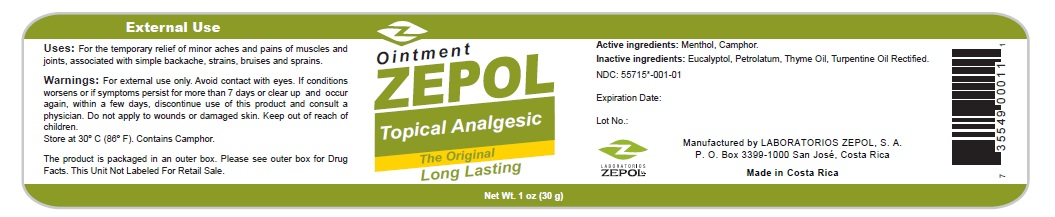 Zepol Topical Analgesic 1 oz