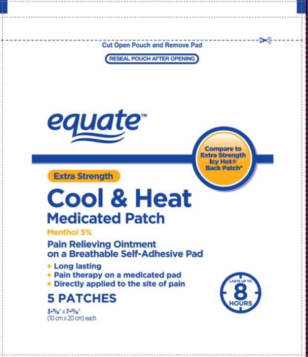 Equate Cool And Heat Extra Strength (Menthol) Patch [Wal-mart Stores Inc]