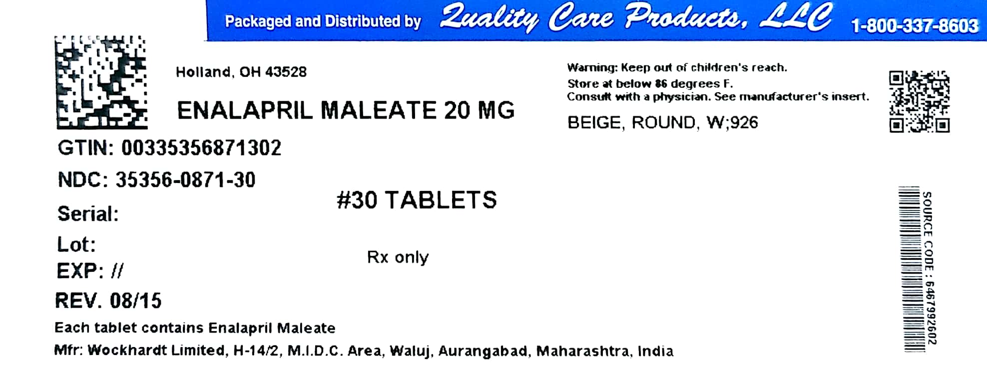 Image of 20mg Label