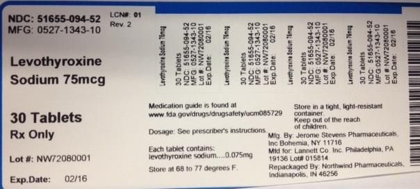 Levothyroxine Sodium Tablet [Northwind Pharmaceuticals, Llc]