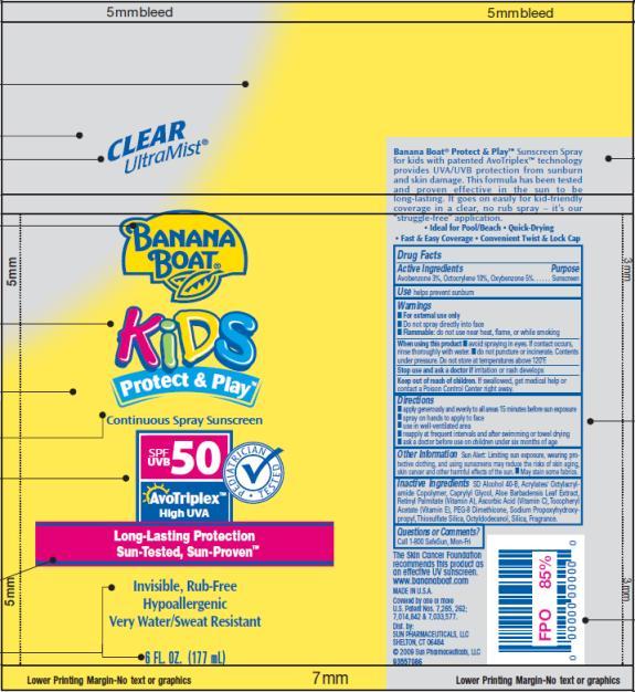 PRINCIPAL DISPLAY PANEL Banana Boat Kids Protect and Play SPF 50