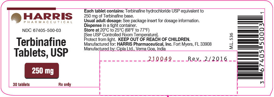 Terbinafine Hydrochloride Tablet [Harris Pharmaceutical, Inc.]