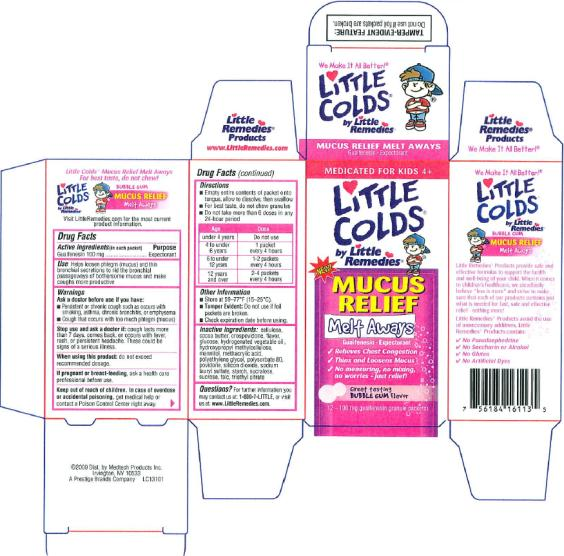 Little Remedies Little Colds Mucus Relief Expectorant Melt Aways (Guaifenesin) Granule [Medtech Products Inc.]