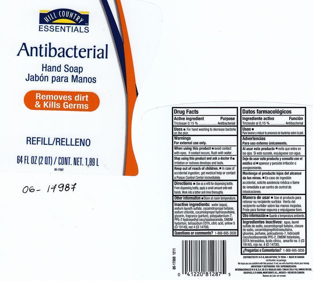 Hill Country Essentials Antibacterial (Triclosan) Liquid [H.e.b.]