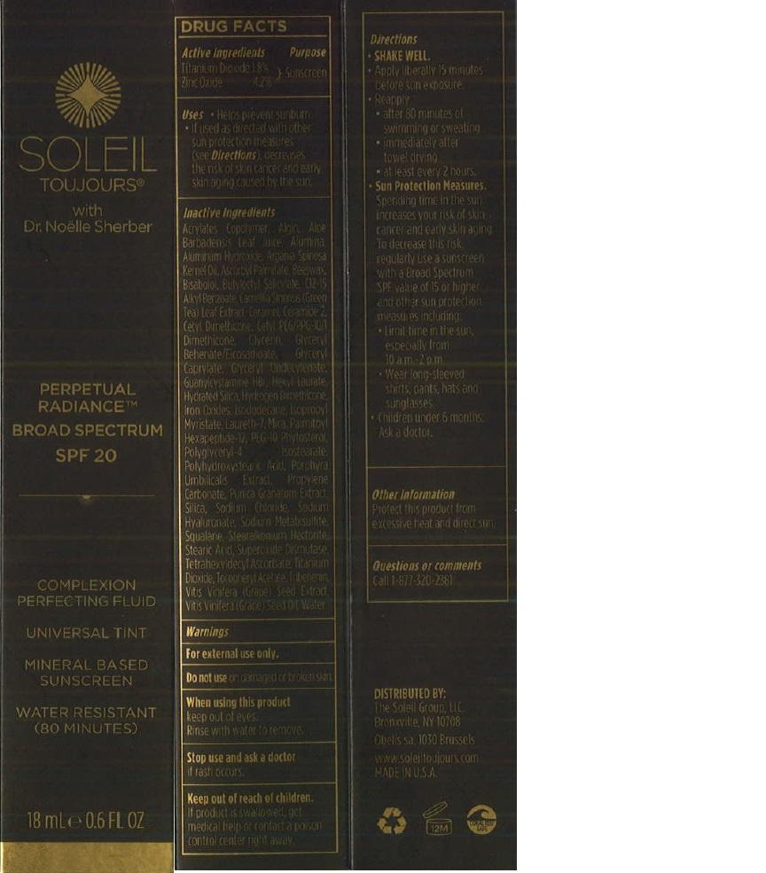 Soleil Toujours Perpetual Radiance Broad Spectrum Spf 20 (Titanium Dioxide And Zinc Oxide) Lotion [Prime Enterprises, Inc.]