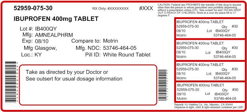 Ibuprofen 400mg Tablet Label