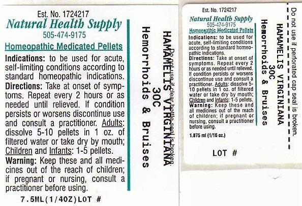 Hemorrhoids Bruises (Hamamelis Virginiana Root Bark/stem Bark) Pellet [Natural Health Supply]