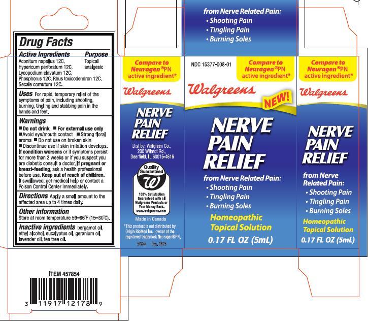 Walgreens Nerve Pain Relief (Aconitum Napellus, Hypericum Perforatum, Lycopodium Clavatum, Phosphorus, Rhus Toxicodendron, Secale Cornutum) Solution [Origin Biomed Inc.]