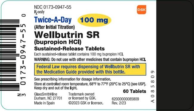 Wellbutrin Sr (Bupropion Hydrochloride) Tablet, Film Coated [Glaxosmithkline Llc]