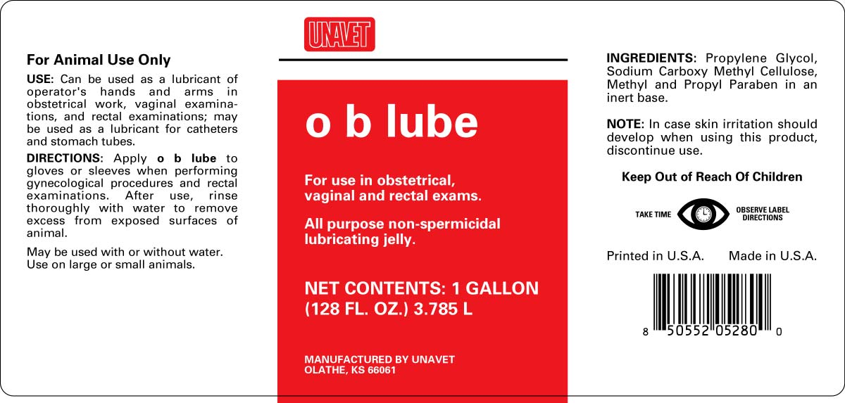 Ob Lube Gel [United Agriculture & Veterinary Products, Inc/centaur, Inc.]