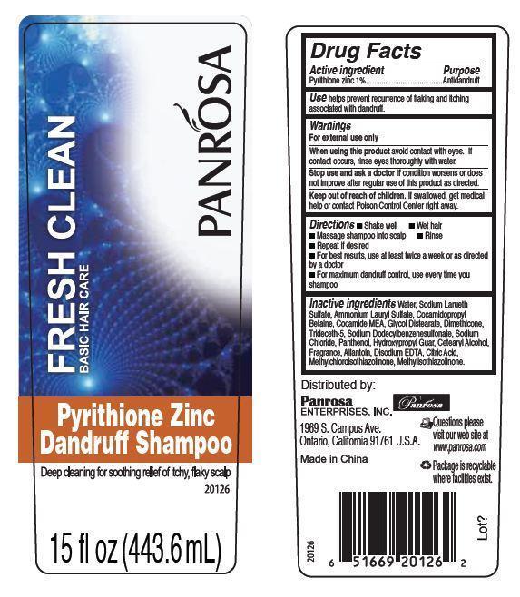 Panrosa Fresh Clean Pyrithione Zinc Dandruff (Pyrithione Zinc) Shampoo [Panrosa Enterprises, Inc.]