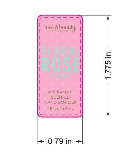 Love And Beauty Floral Rose Essence Antibacterial Scented Hand Sanitizer (Ethyl Alcohol) Gel [Forever 21]