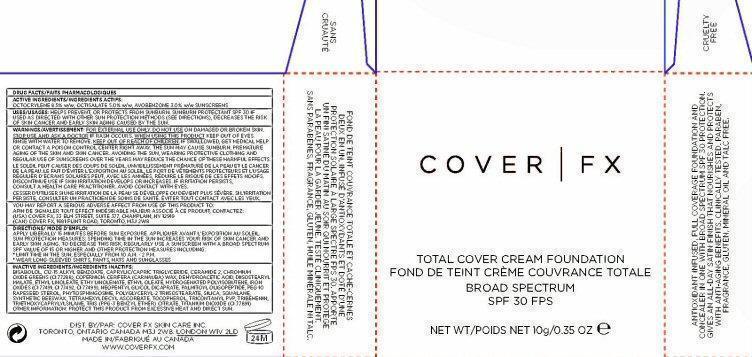Cover Fx Total Cover Foundation Spf 30 (Octocrylene, Octisalate, Avobenzone) Cream [Cover Fx Skin Care, Inc.]