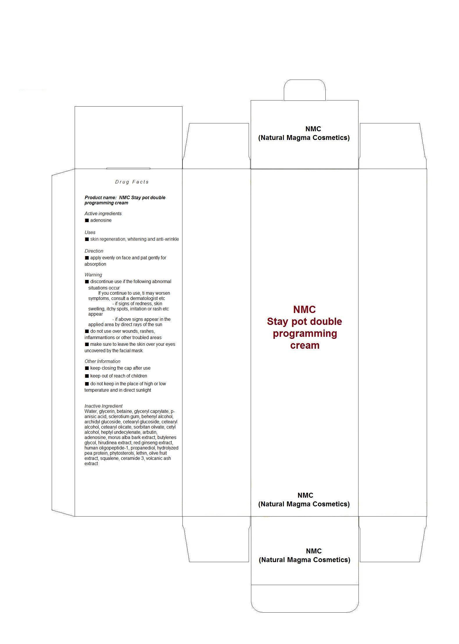 Nmc Staypot Double Programing Cream (Adenosine) Liquid [Nmc (Natural Magma Cosmetics)]