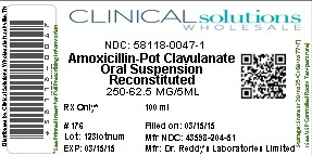 Amoxicillin And Clavulanate Potassium Powder, For Suspension [Clinical Solutions Wholesale]