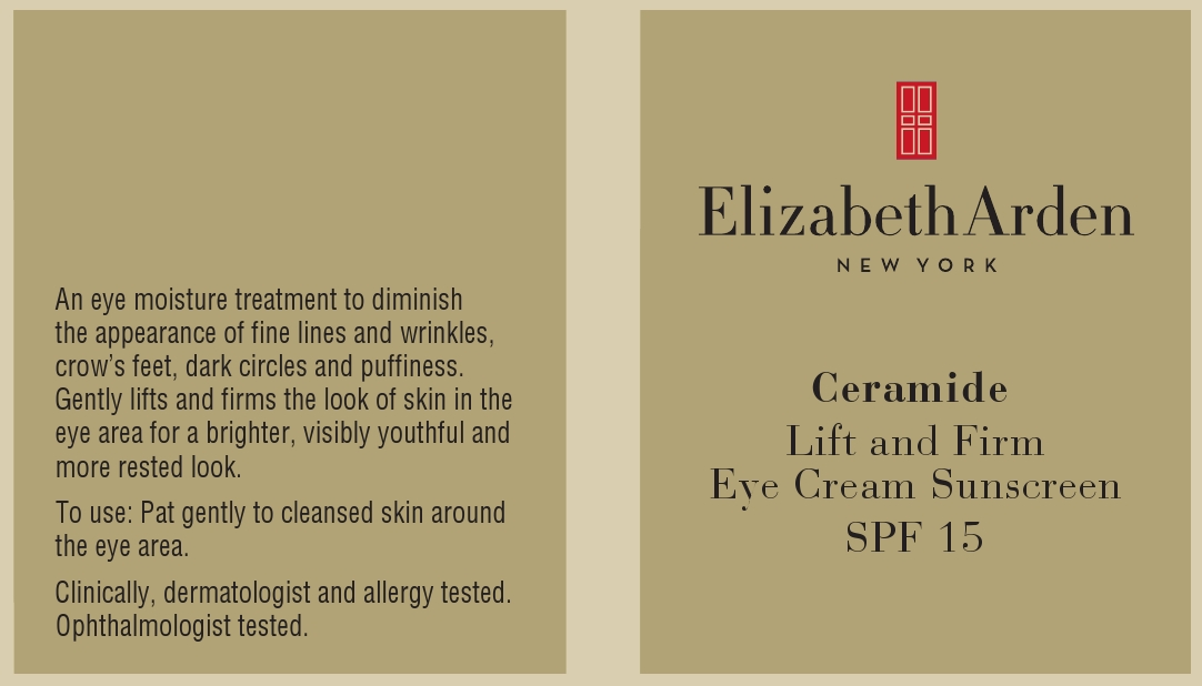 Ceramide Lift And Firm Eye Sunscreen Spf 15 (Octinoxate And Oxybenzone) Cream [Elizabeth Arden, Inc]
