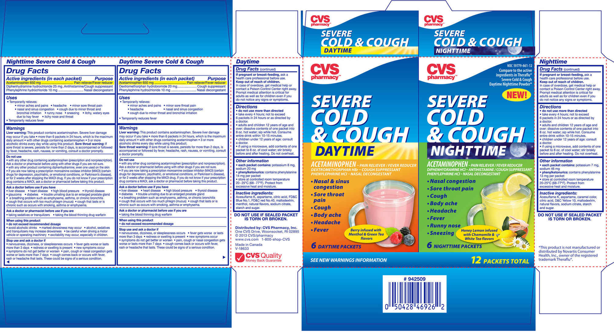 Cvs Pharmacy Daytime Nighttime Severe Cold And Cough Kit (Acetaminophen, Diphenhydramine Hcl, Phenylephrine Hcl And Dextromethorphan Hbr) Kit [Cvs Pharmacy]