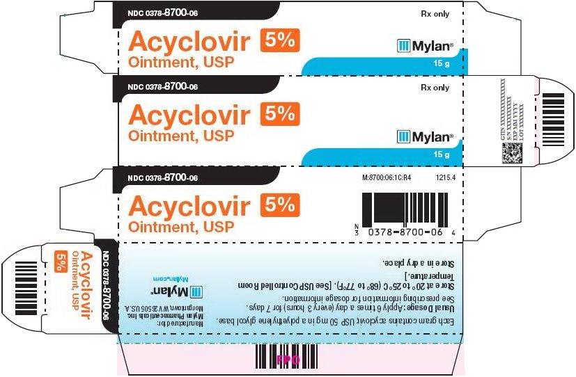 Acyclovir Ointment, USP 5% Carton Label