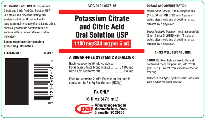 Potassium Citrate And Citric Acid (Potassium Citrate And Citric Acid Monohydrate) Solution [Pharmaceutical Associates, Inc.]