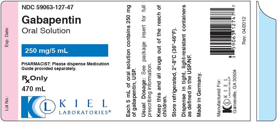 Gabapentin Solution [Kiel Laboratories, Inc.]