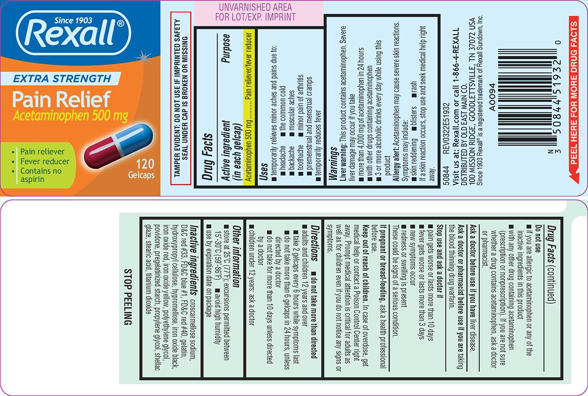 Extra Strength Pain Relief (Acetaminophen) Capsule, Liquid Filled [Dolgencorp, Llc]