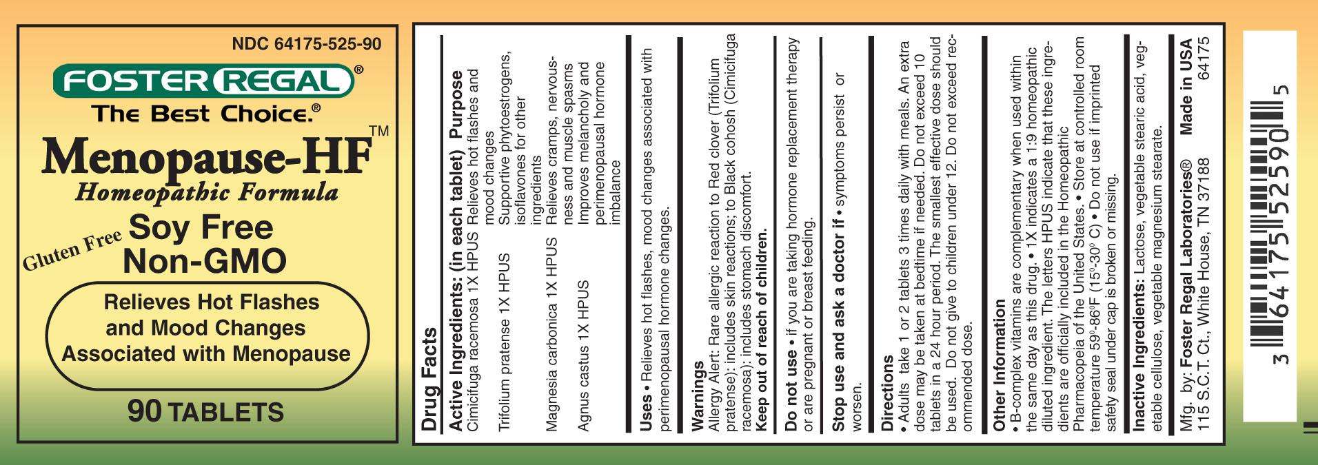 Menopause Hf (Cimicifuga Racemosa, Trifolium Pratense, Magnesia Carbonica, Agnus Castus) Tablet [Foster Regal Laboratories]