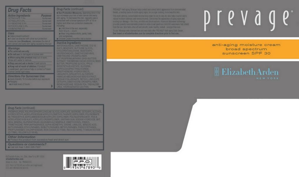 Prevage Anti Aging Moisture Broad Spectrum Sunscreen Spf 30 (Octinoxate, Octisalate, Oxybenzone, Octocrylene, And Avobenzone) Cream [Elizabeth Arden, Inc]