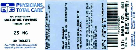 image of 25 mg package label