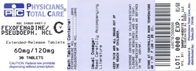 image of Fexofenadine/Pseudoephedrine package label