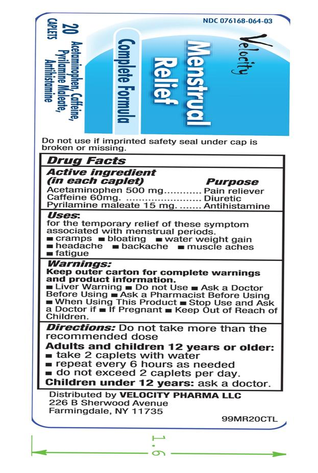 Menstrual Relief (Acetaminophen,caffeine,pyrilamine) Tablet [Velocity Pharma]