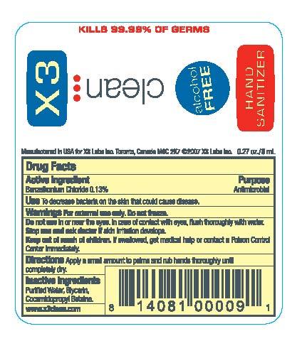 X3 Clean (Hand Sanitizer Spray) Spray [X3 Labs Inc.]