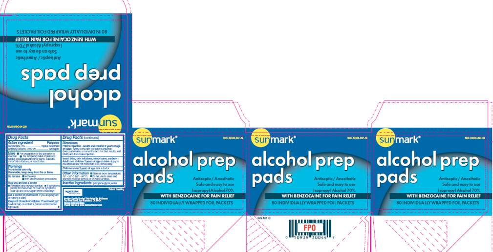 Alcohol Prep Pads With Pain Relief (Benzocaine) Swab [Mckesson]