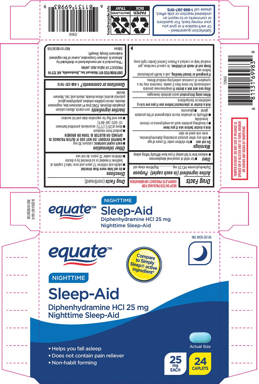 Sleep Aid Nighttime (Diphenhydramine Hcl) Tablet, Film Coated [Wal-mart Stores Inc]
