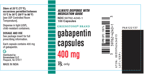 PRINCIPAL DISPLAY PANEL - 400 mg Capsule Bottle Label