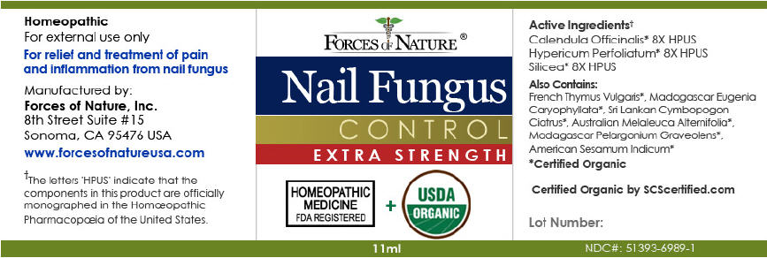 Nail Fungus Control (Calendula Officinalis Flowering Top, Silicon Dioxide, And Hypericum Perforatum) Solution/ Drops [ Forces Of Nature]
