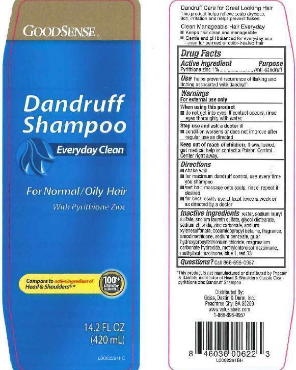 Everyday Clean Dandruff (Pyrithione Zinc) Shampoo [Geiss, Destin + Dunn, Inc]