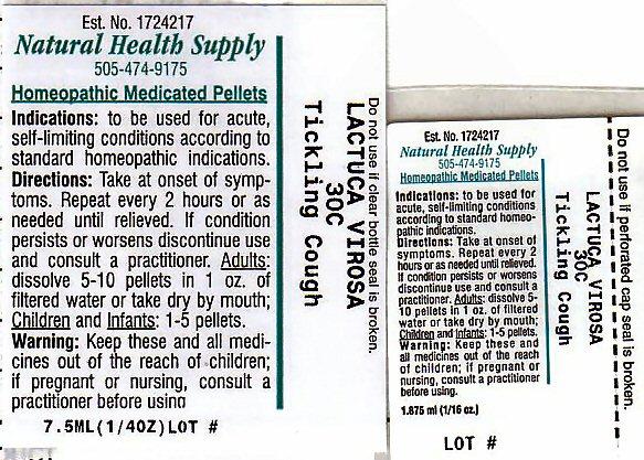 Tickling Cough (Lactuca Virosa Leaf) Pellet [Natural Health Supply]