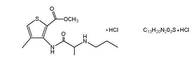 Articaine HCl structural formula