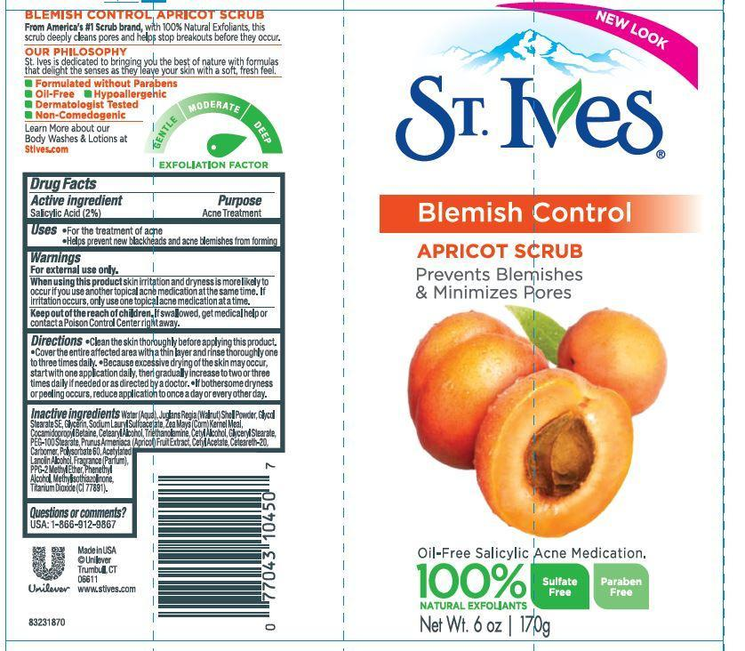 St. Ives Blemish And Blackhead Control Apricot Scrub (Salicylic Acid) Emulsion [Conopco Inc. D/b/a Unilever]