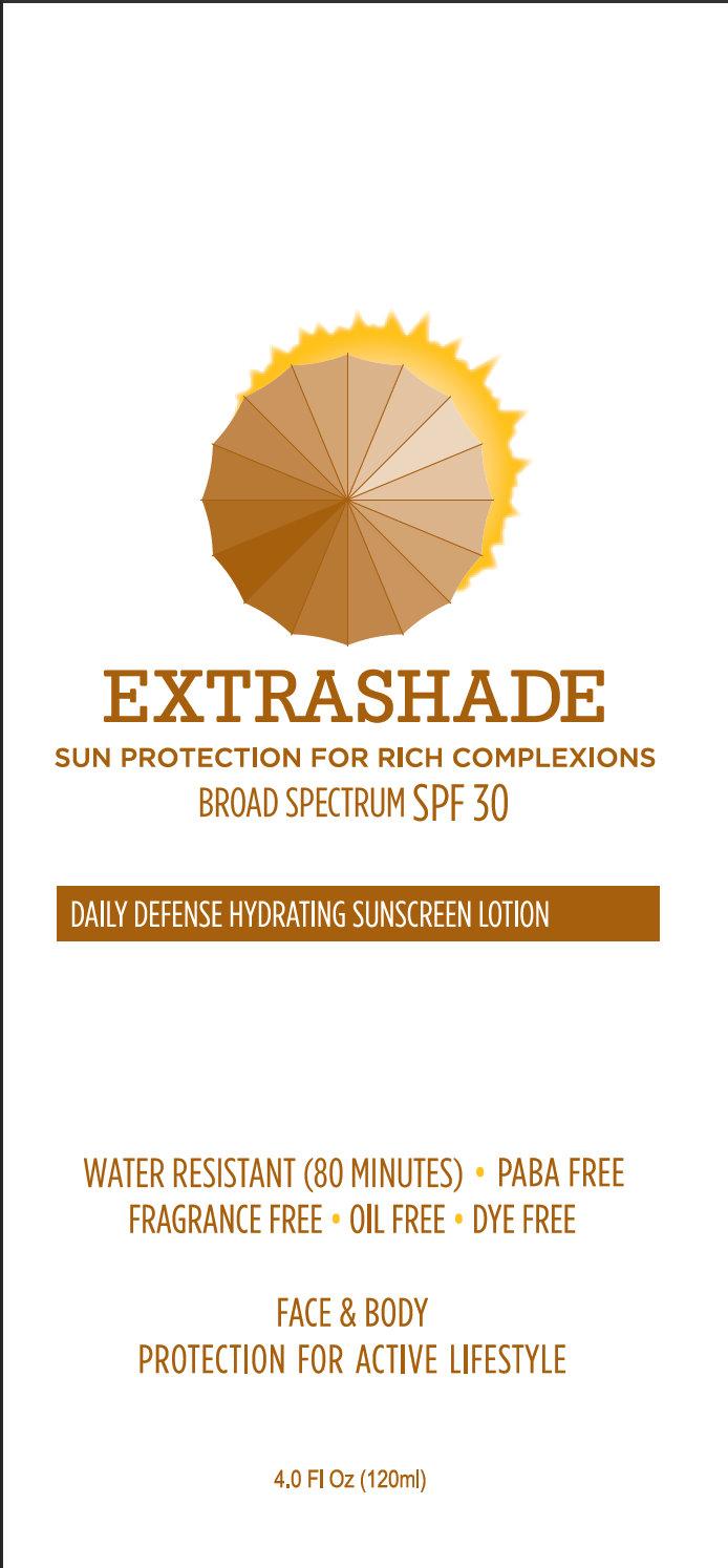 Extrashade Daily Defense Hydrating Sunscreen Spf 30 (Avobenzone, Octinoxate, Octisalate, Oxybenzone) Lotion [Extrashade A Sub Of Versitile Group]