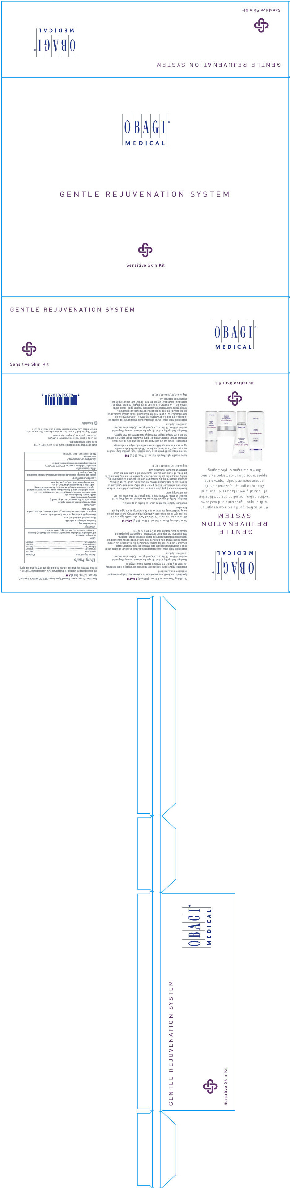 Gentle Rejuvenation System (Avobenzone, Homosalate, Octisalate, Octocrylene, And Oxybenzone) Kit [Obagi Medical Products, Inc., A Division Of Valeant Pharmaceutcals North America Llc.]