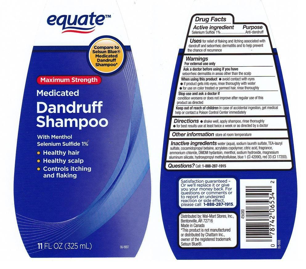 Equate Medicated Dandruff (Selenium Sulfide) Liquid [Wal-mart Stores Inc]