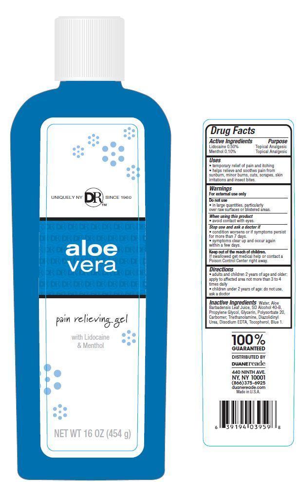 Duane Reade Aloe Vera Pain Relieving (Lidocaine) Gel [Duane Reade Inc.]