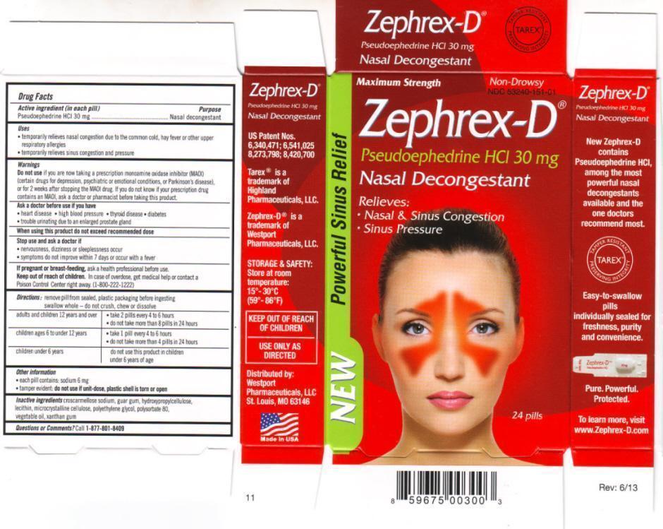 Zephrex-d (Pseudoephedrine Hydrochloride) Tablet [Westport Pharmaceuticals]