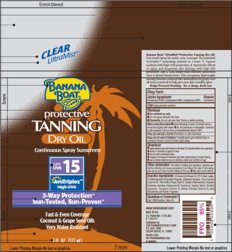 PRINCIPAL DISPLAY PANEL Banana Boat Protective Dry Oil SPF 15