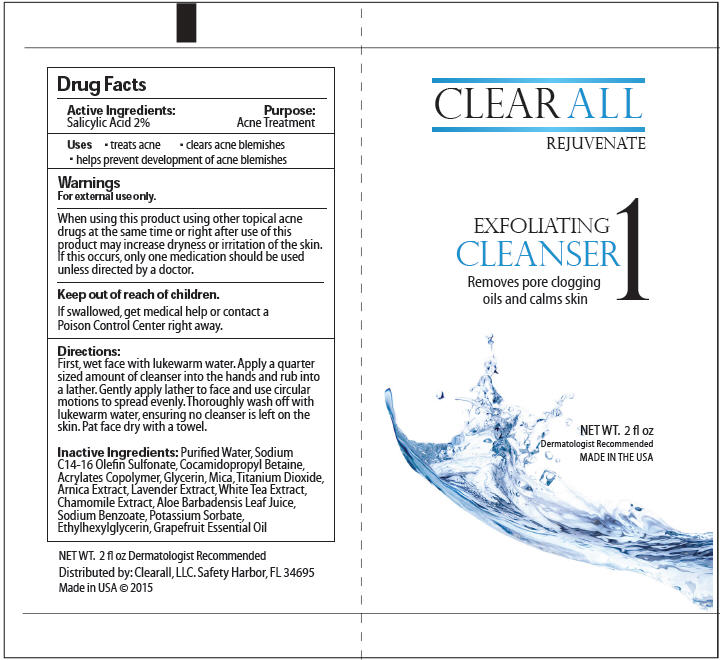 Exfoliating Cleanser (Salicylic Acid) Lotion [Clearall Llc]