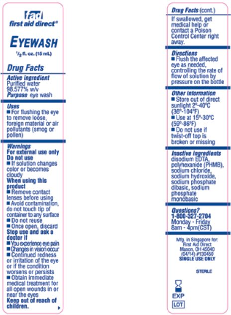 Fad First Aid Direct Eyewash (Purified Water) Solution Xpect First Aid Buffered Eyewash (Purified Water) Solution Eyewash Flushing Solution (Purified Water) Solution Xpect First Aid Buffered Eye And Skin (Purified Water) Solution Fad First Aid Direct Buffered Eye And Skin (Purified Water) Solution [Cintas Corporation]