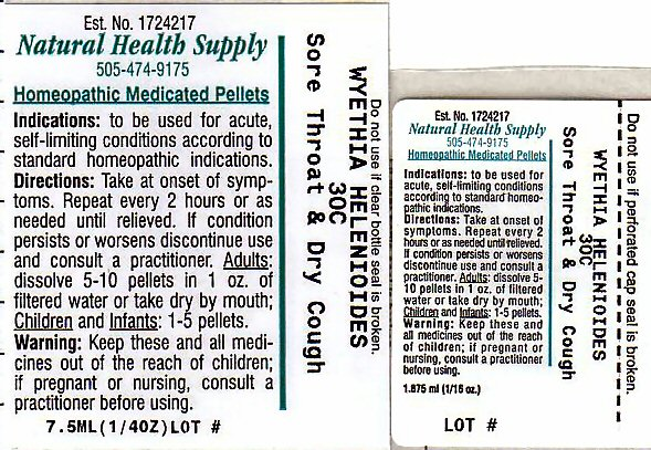 Sore Throat Dry Cough (Wyethia Helenioides Root) Pellet [Natural Health Supply]