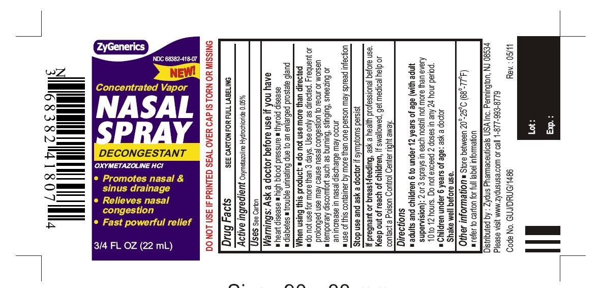 Oxymetazoline Hydrochloride Spray, Metered [Zydus Pharmaceuticals (Usa) Inc.]
